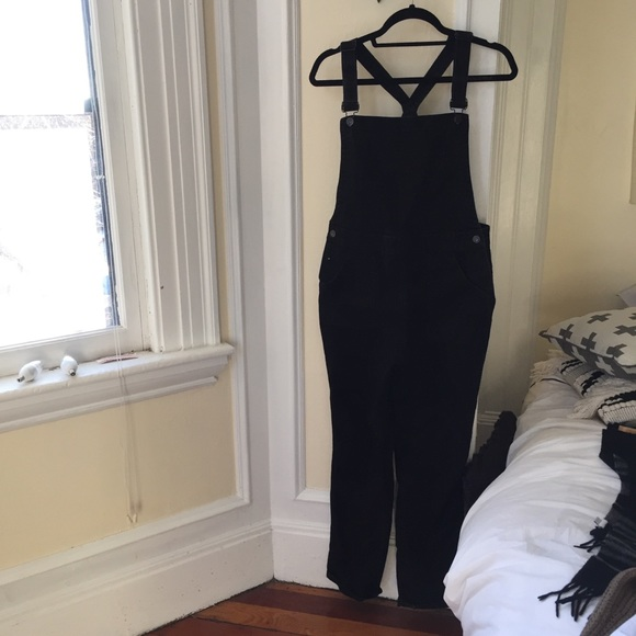 the latest cheap prices various styles Madewell Straight Leg Black Overalls